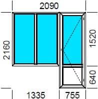 Двухстворчатое окно «Люкс»